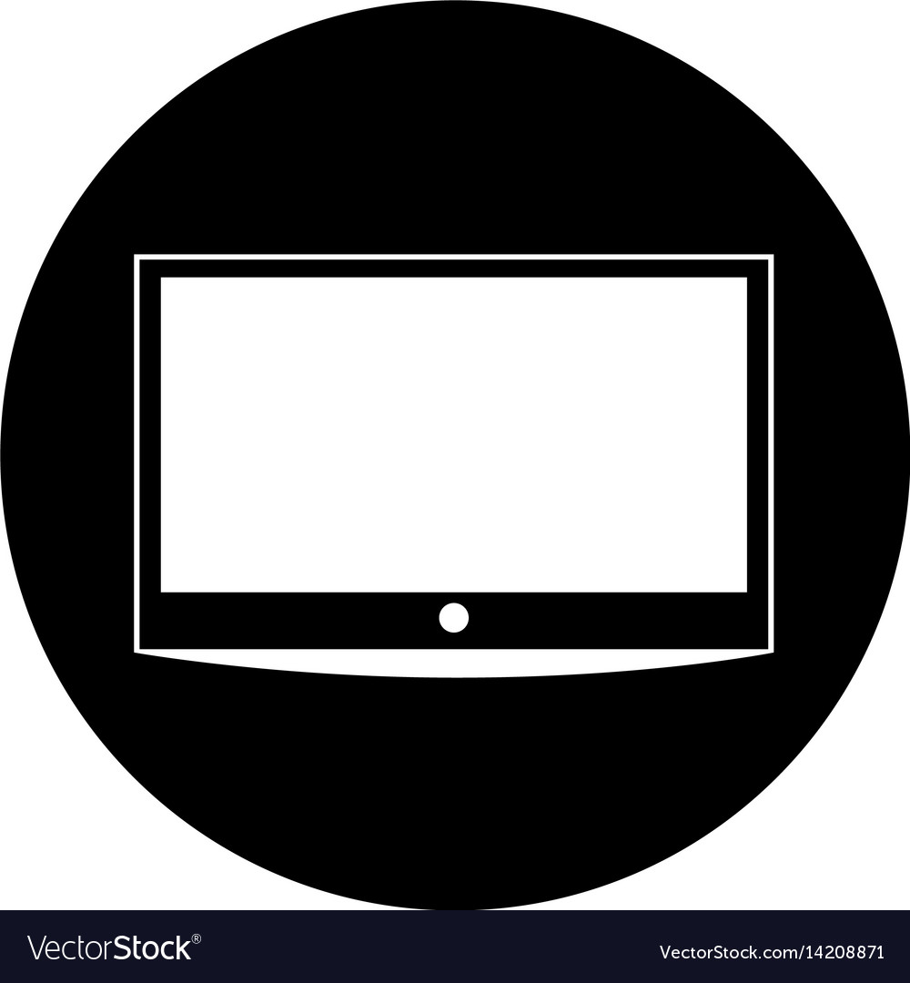Lcd tv isolated icon