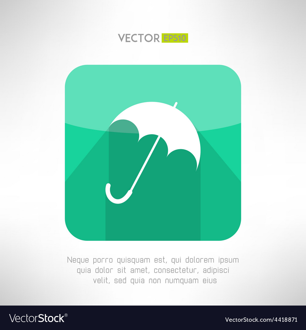 Umbrella icon made in modern clean and simple flat