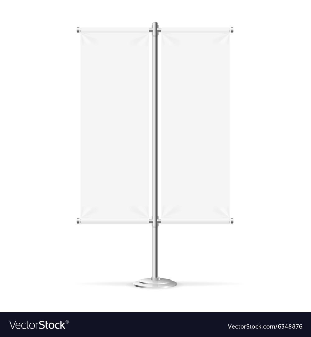 Blank Banner Flag vector image