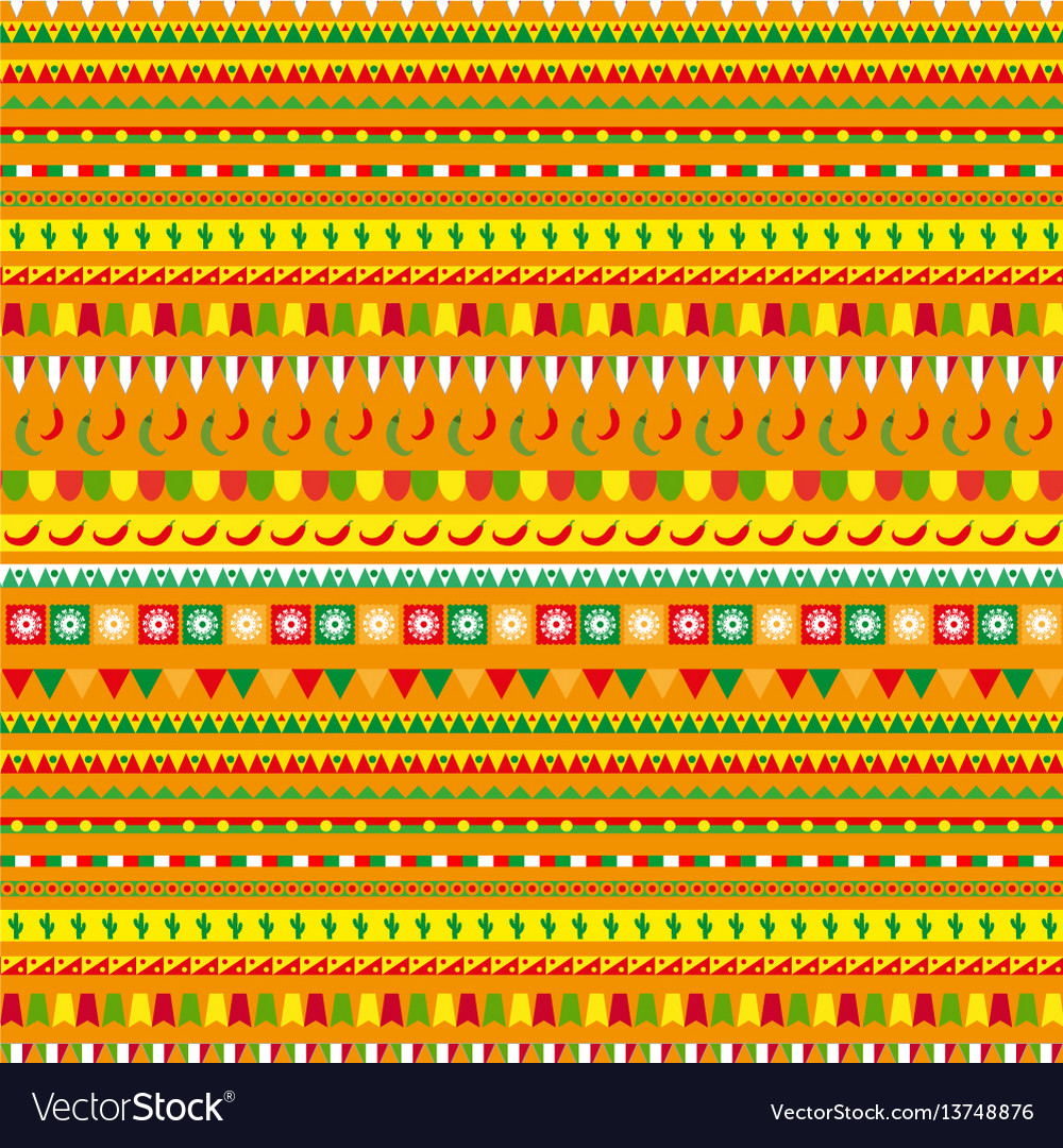 Cinco de mayo seamless pattern with a traditional
