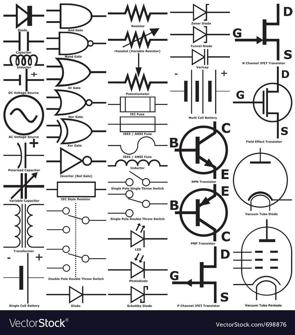 Residential Electrical Symbols Chart Pdf Electronic Download Composite