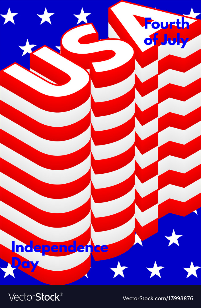 Fourth july usa independence day modern poster