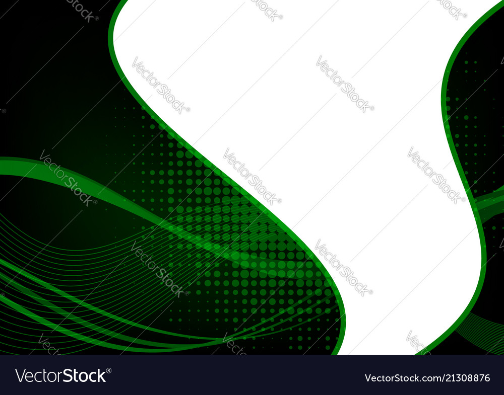 Green and black abstract wave abstract background