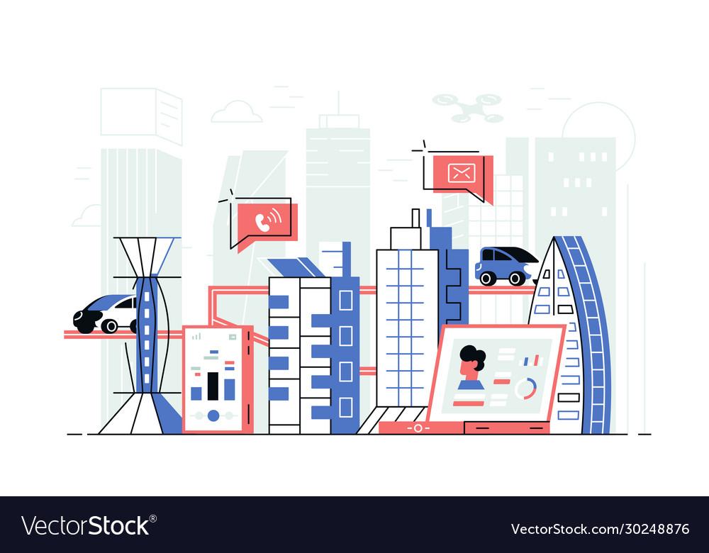 Modern smart city