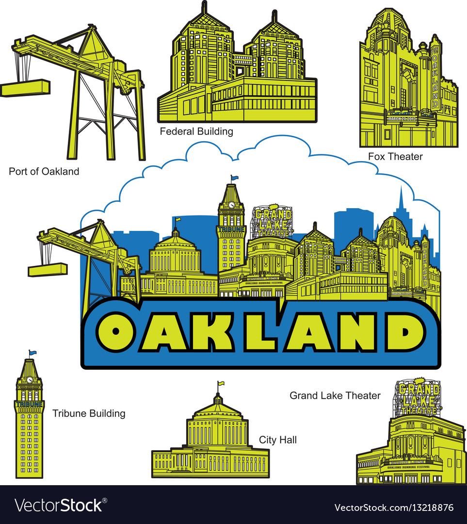 Oakland california building and landmarks