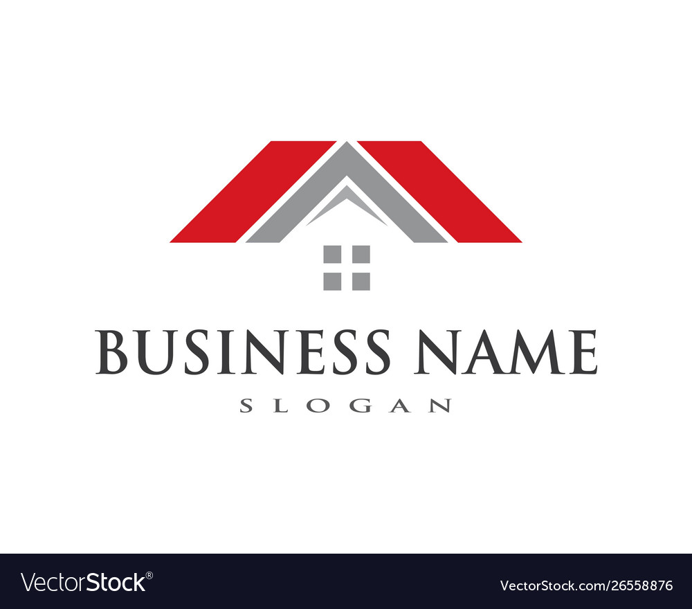 Property And Construction Logo Design Royalty Free Vector