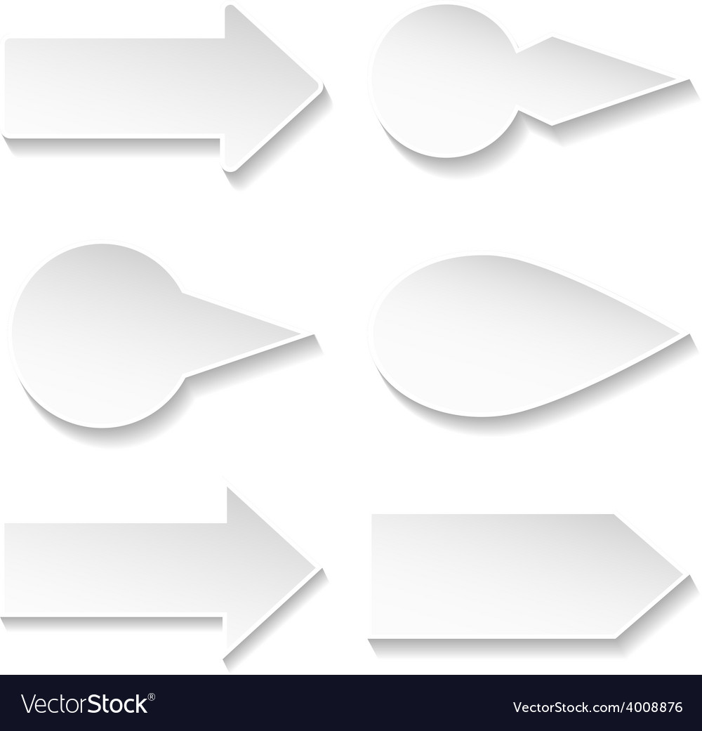Set of paper arrows vector image