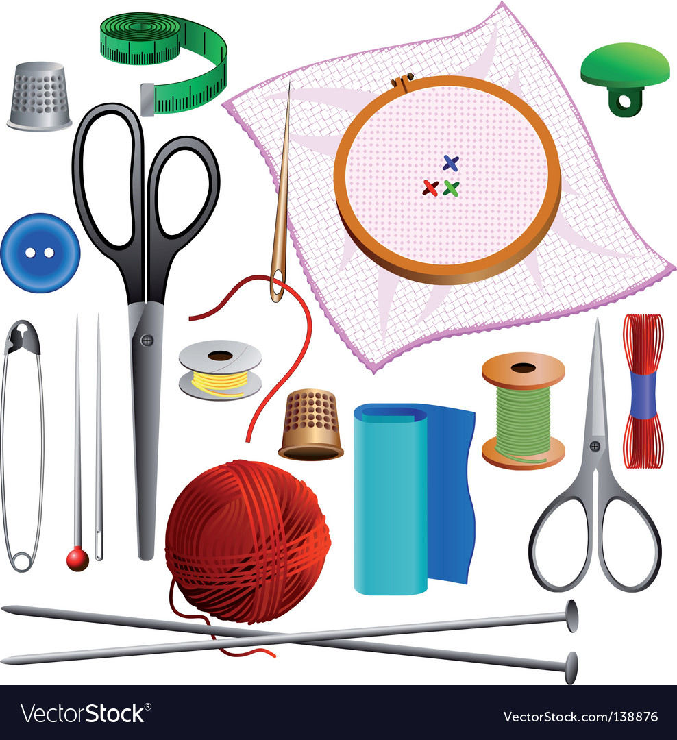 Sewing kit vector image