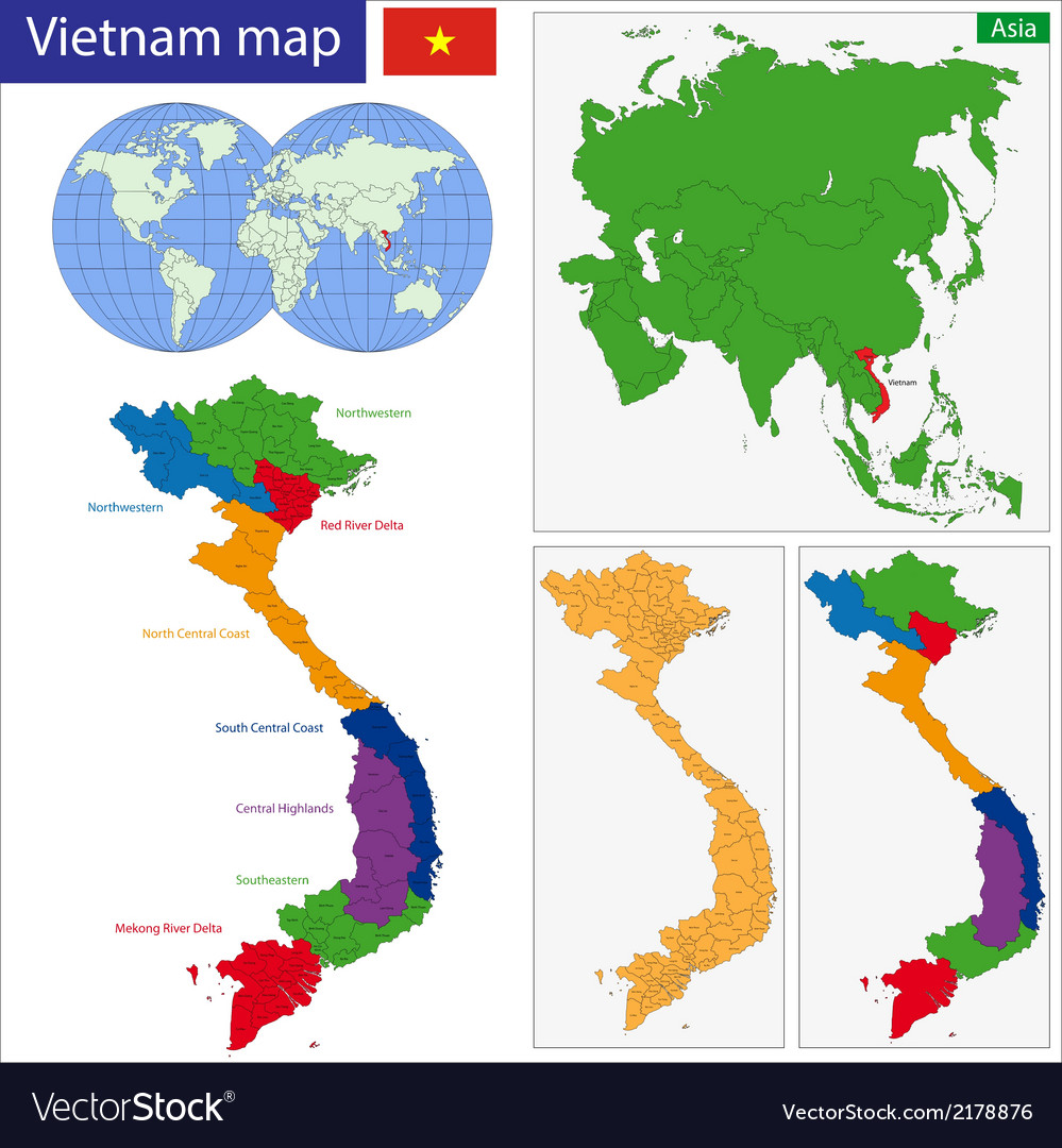 Vietnam map royalty free vector image vectorstock vietnam map vector image gumiabroncs Choice Image