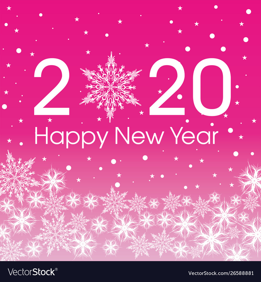 2020 Happy New Year Card Template Royalty Free Vector Image