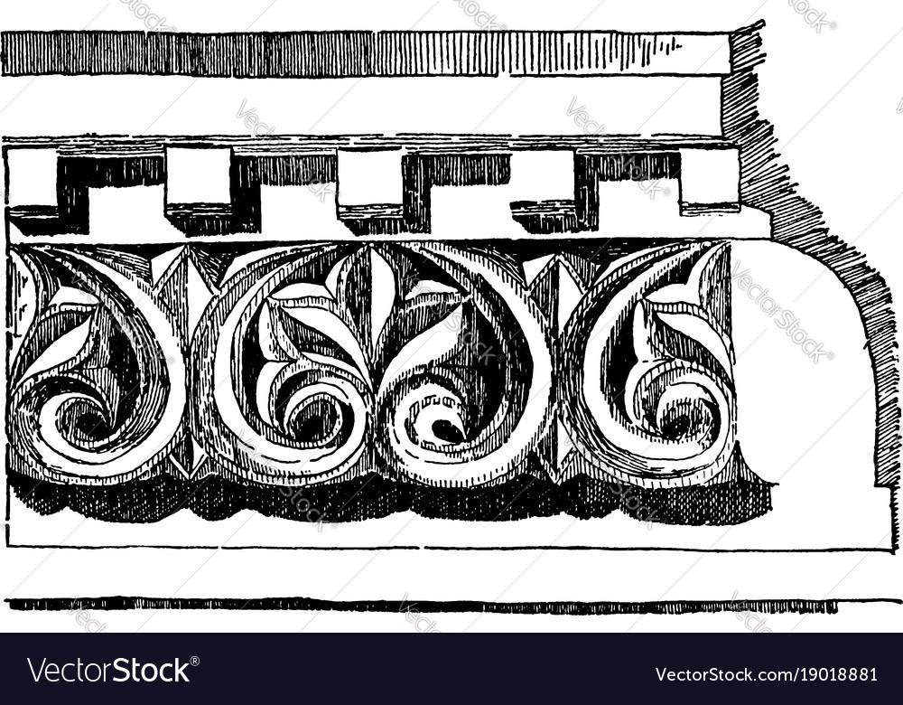 Anthemion frieze venice byzantium vintage