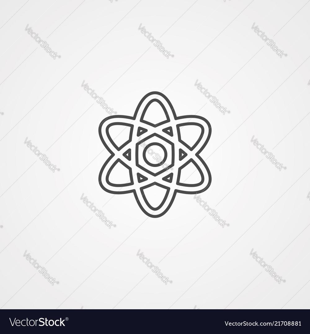 Atom icon sign symbol