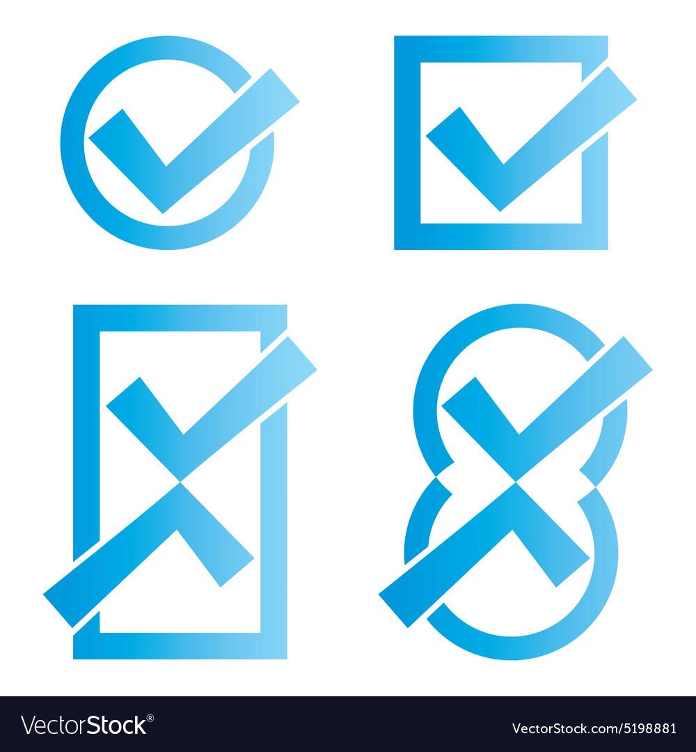 Blue tick icons