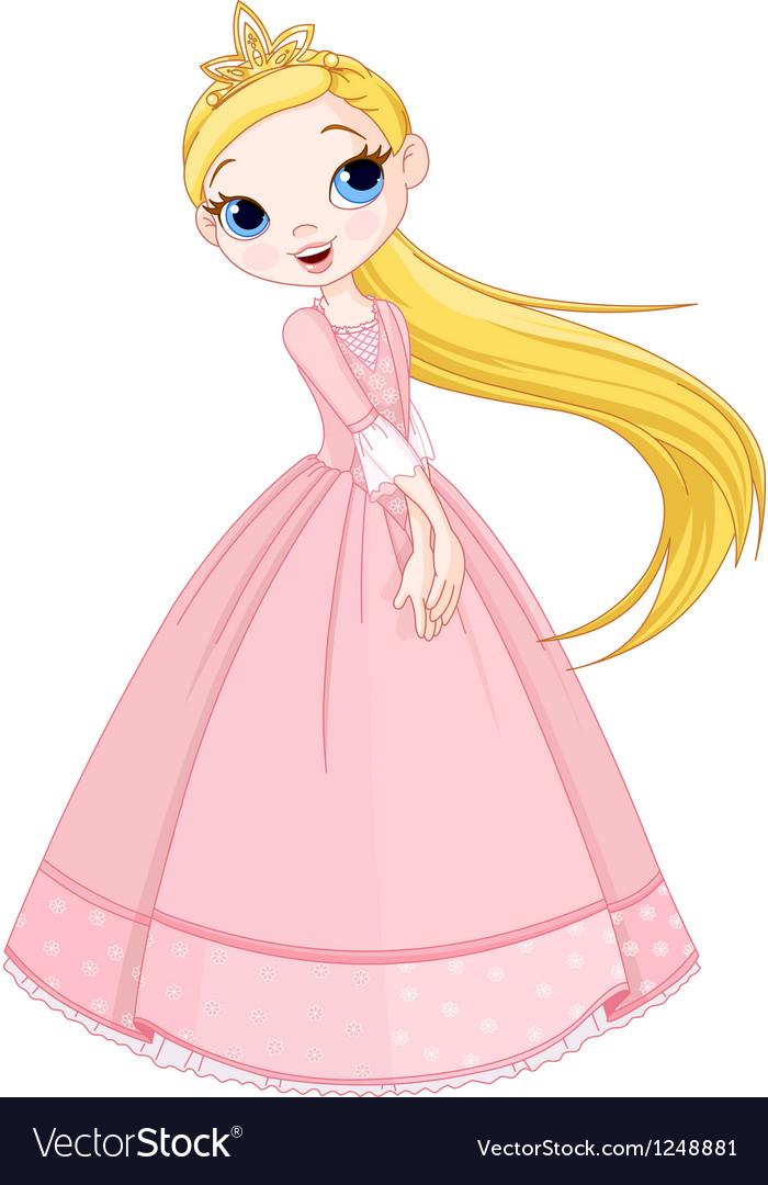 Cute princess vector image