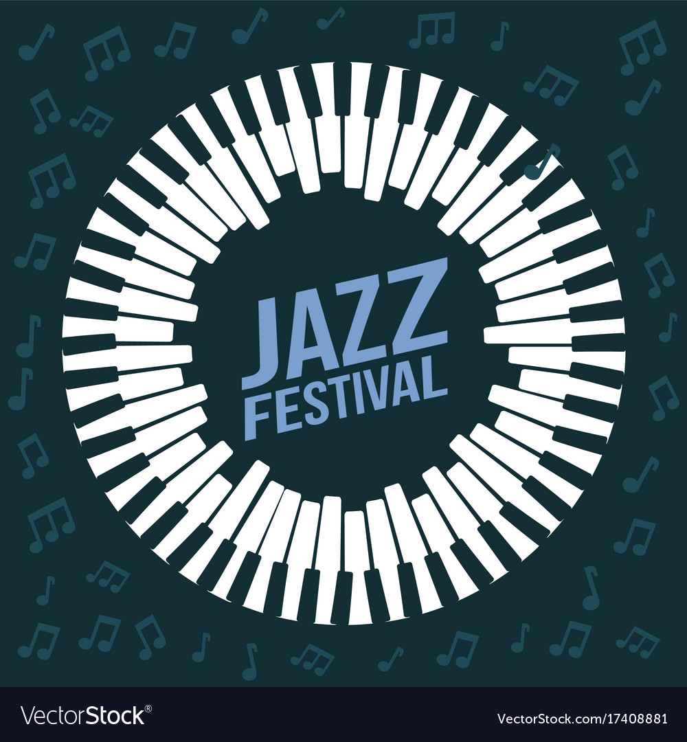 Jazz festival poster music event invitation