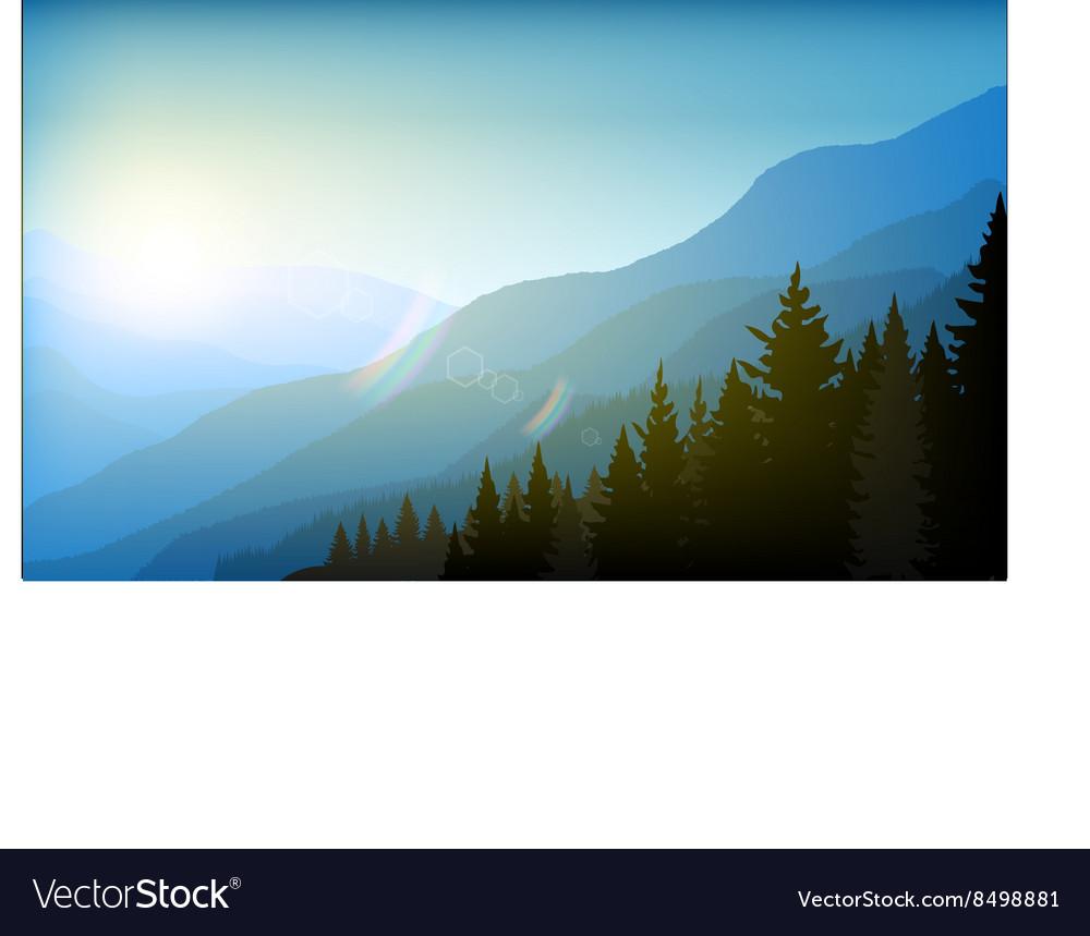 Landscape mountain background eps 10