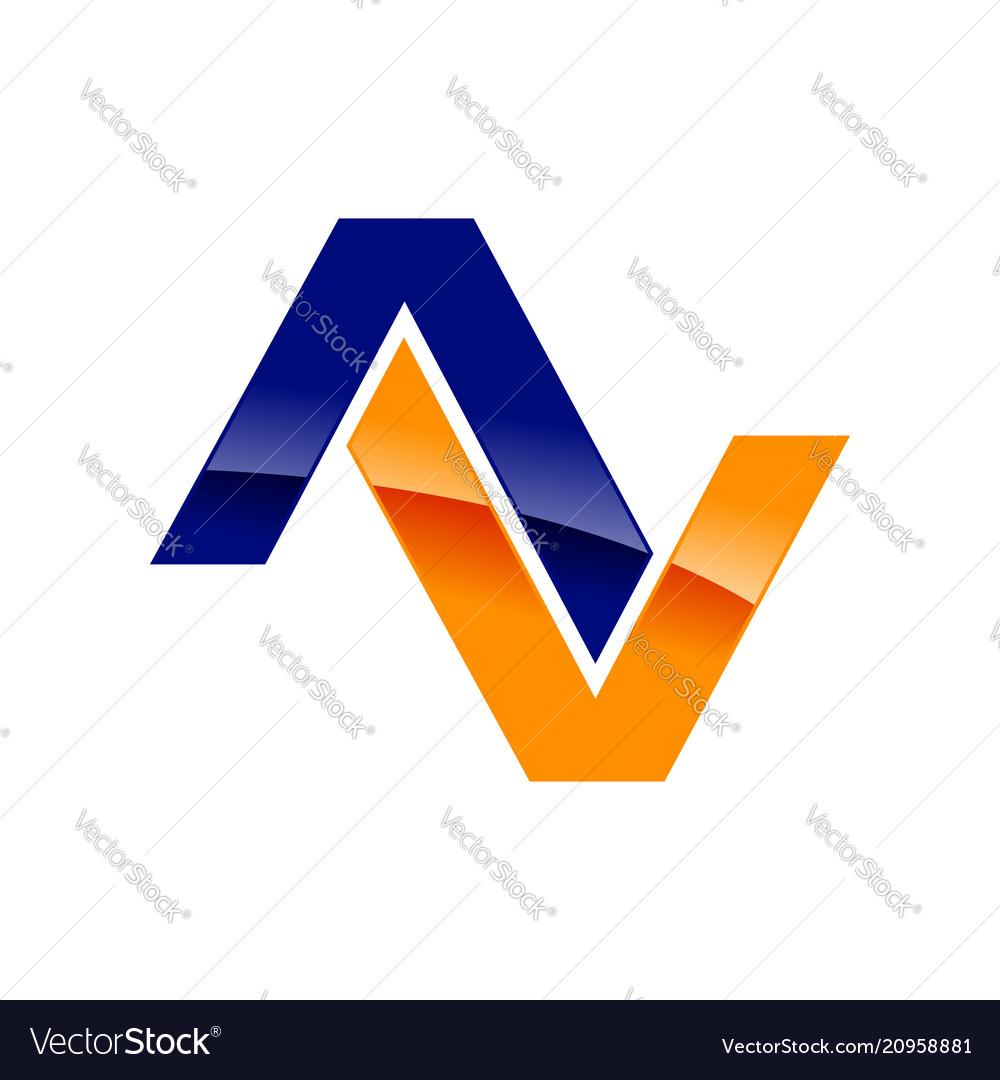 Modern initial av symbol logo design