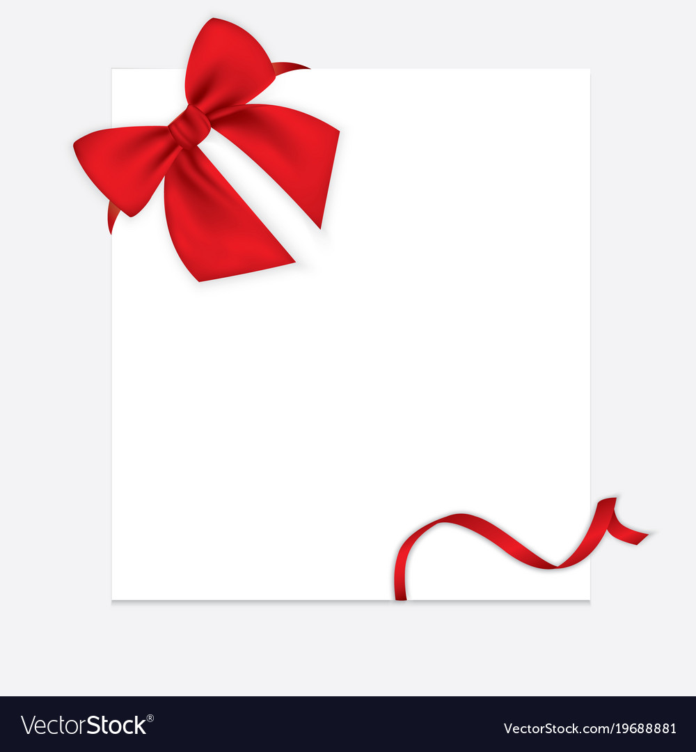 Realistic red bow and ribbon isolated on