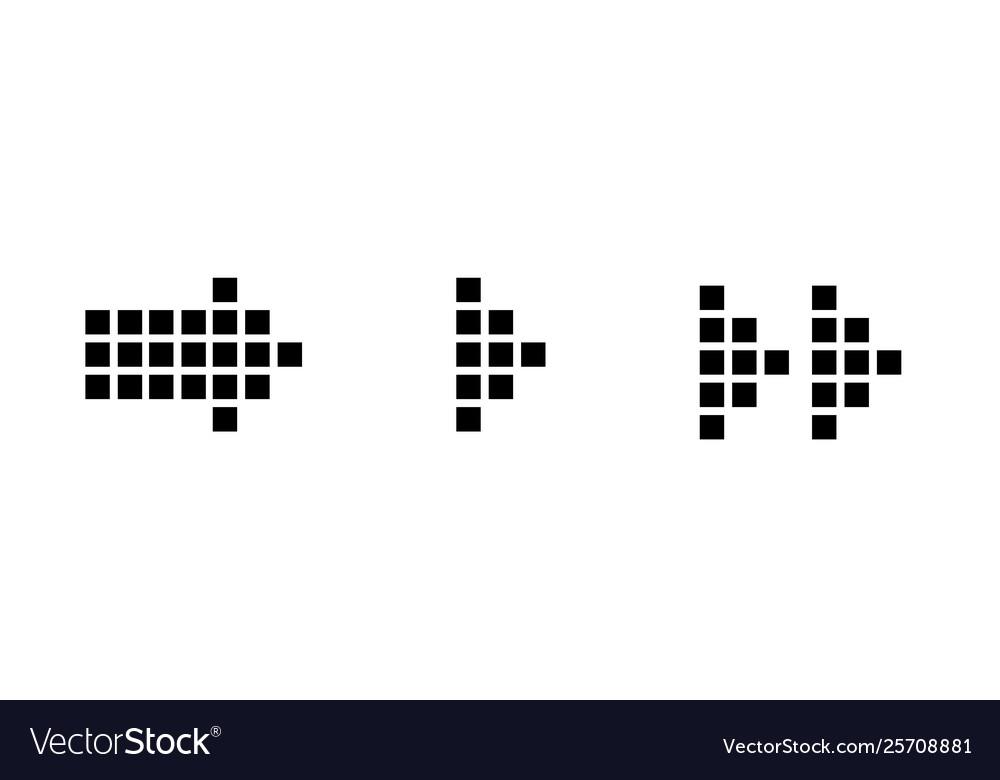 Set black arrows arrow icon arrow
