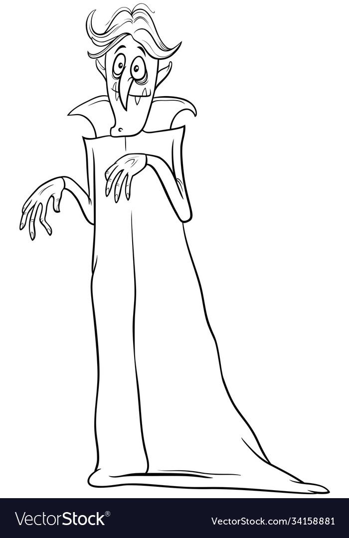 Vampire halloween character cartoon coloring book