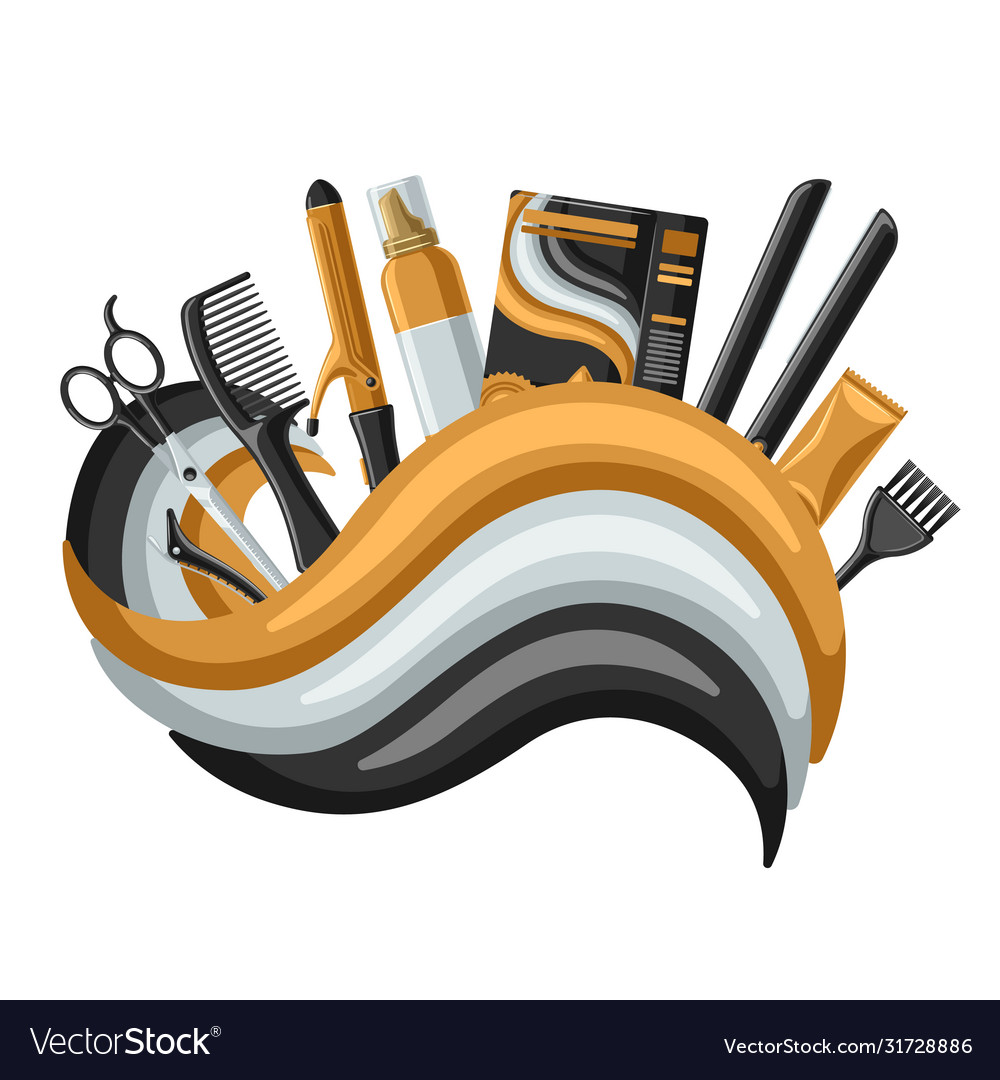 Barbershop Banner With Professional Hairdressing Vector Image