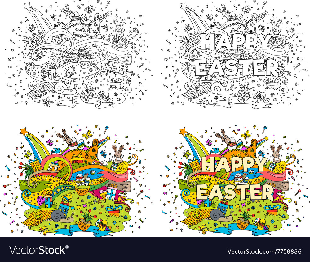 Happy easter doodle