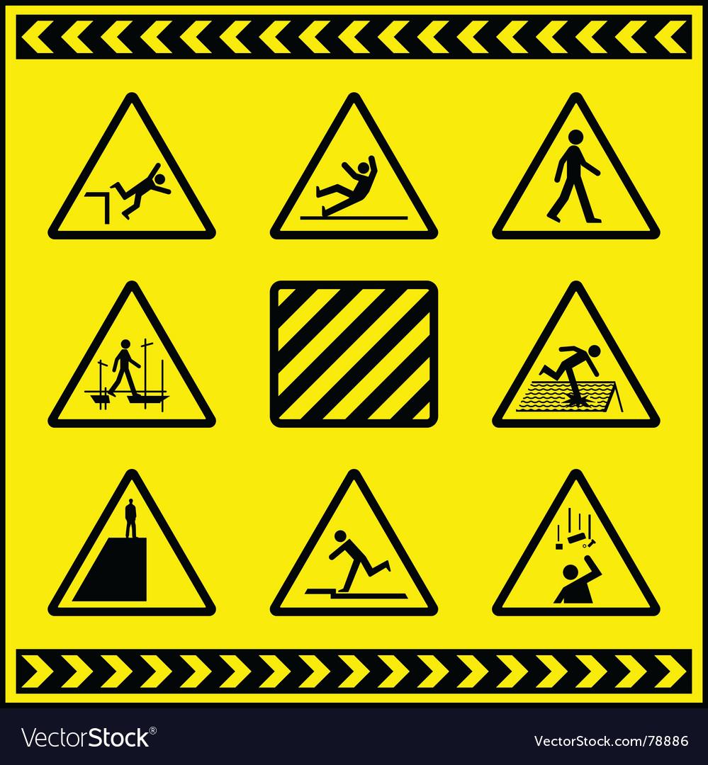 Hazards vector image