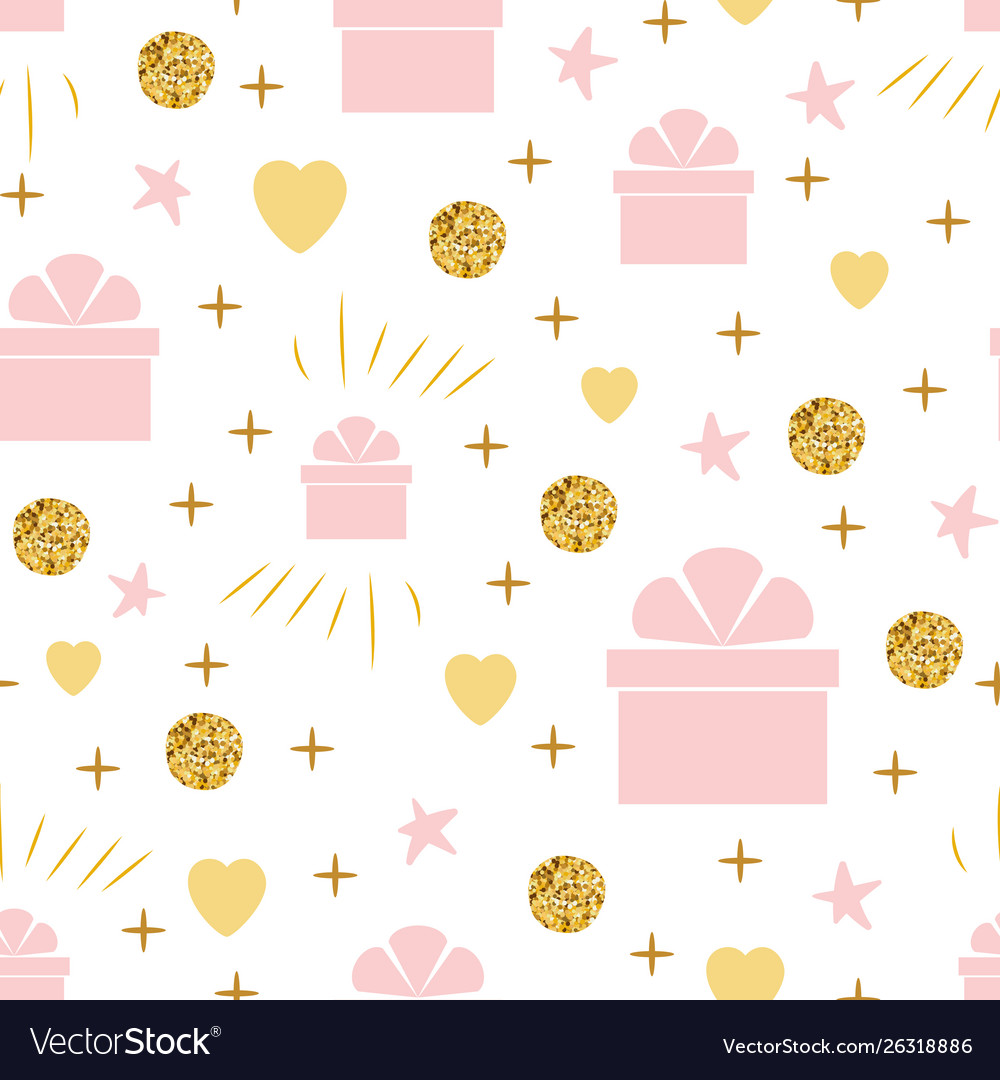 Holiday background seamless birthday pattern with
