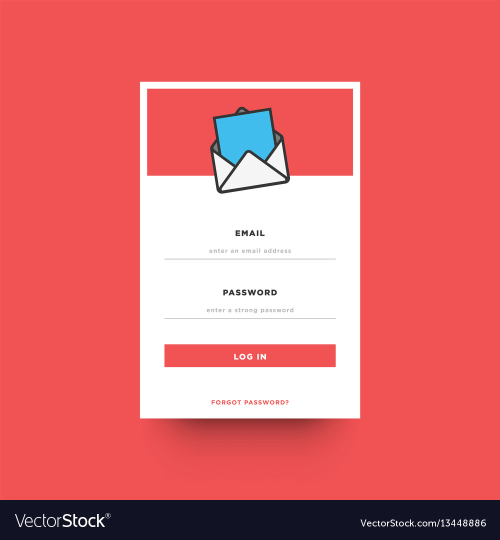 Log in box ui design