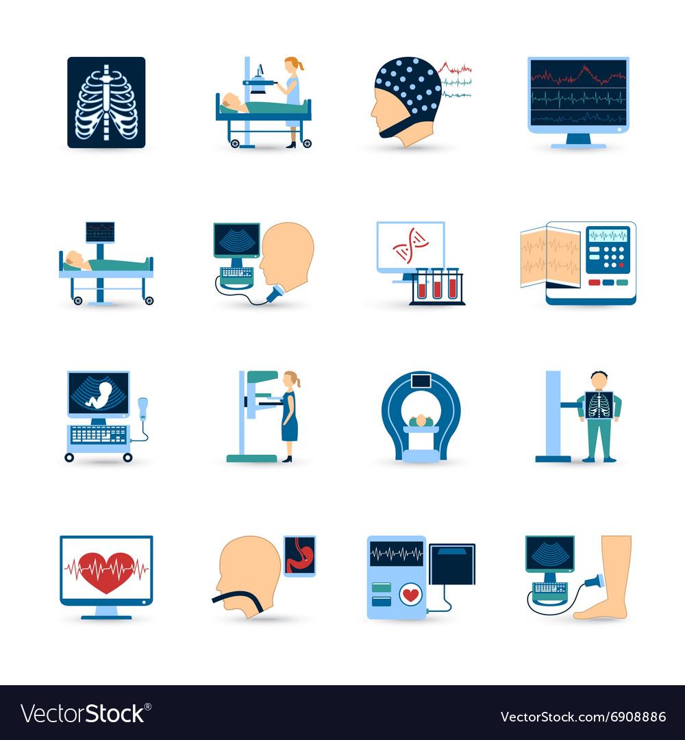 Medical Examination Icons Set