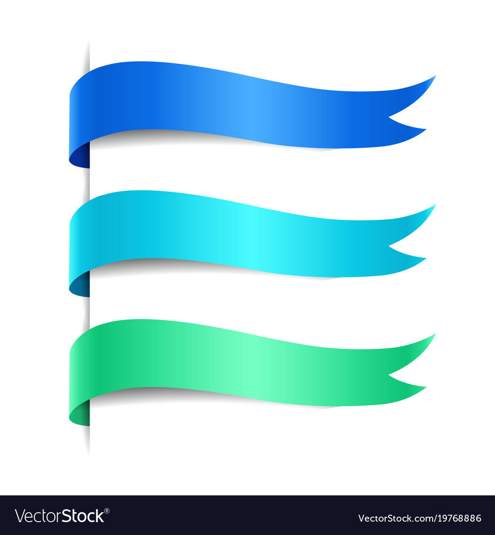 Set of colored decorative wave banners vector image