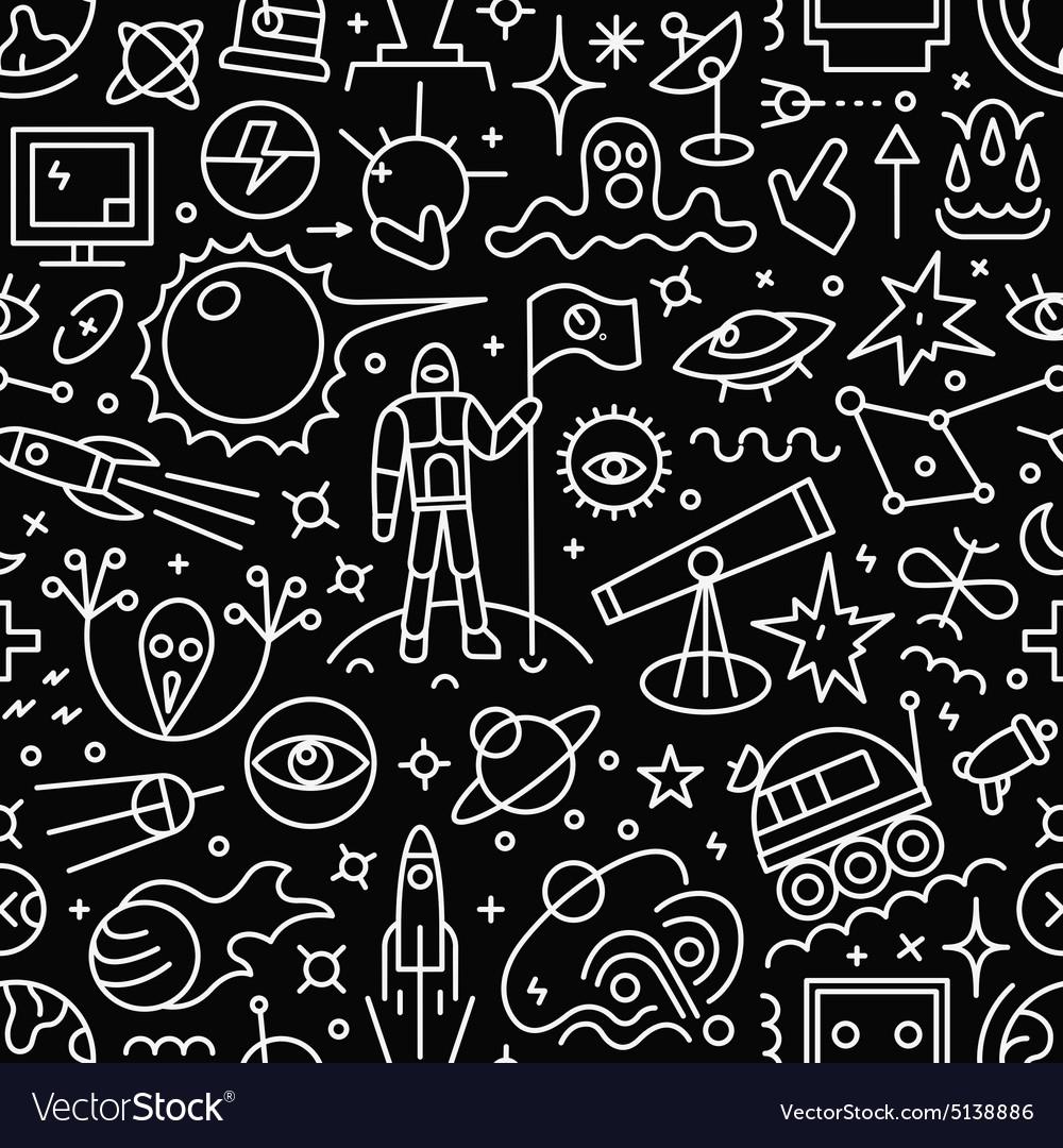 Space - seamless pattern