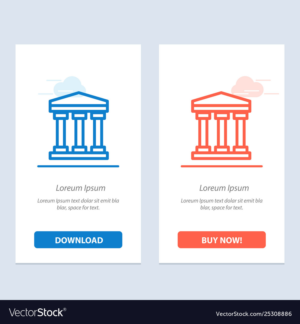 User bank cash blue and red download and buy now
