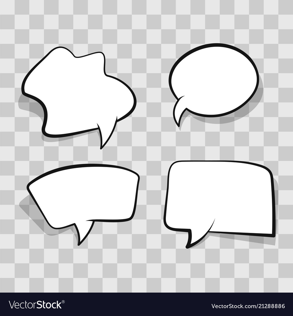 White comic speech bubble isolated on transparent