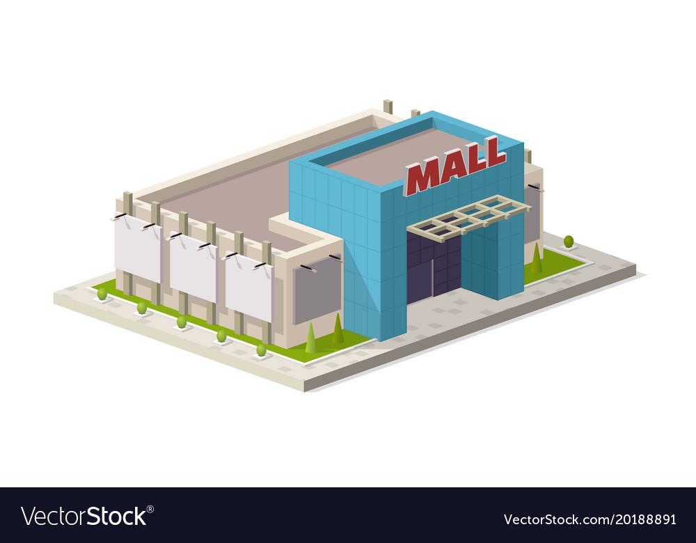 A of a modern shopping center