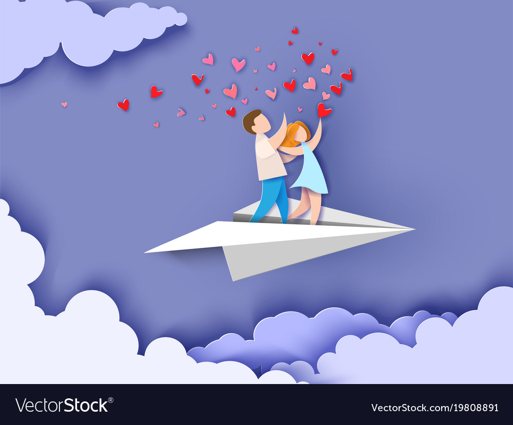 Abstract background with couple in love vector image