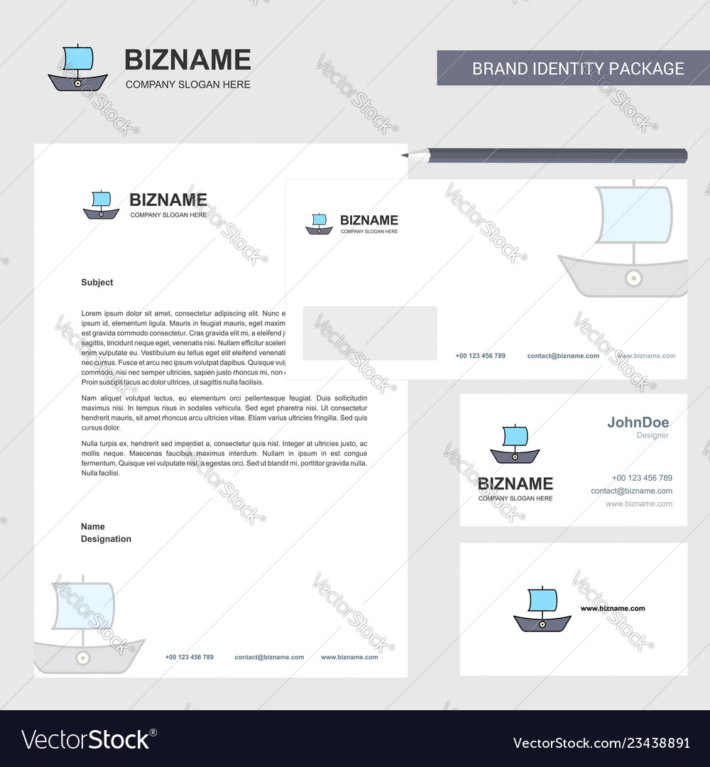 Boat business letterhead envelope and visiting