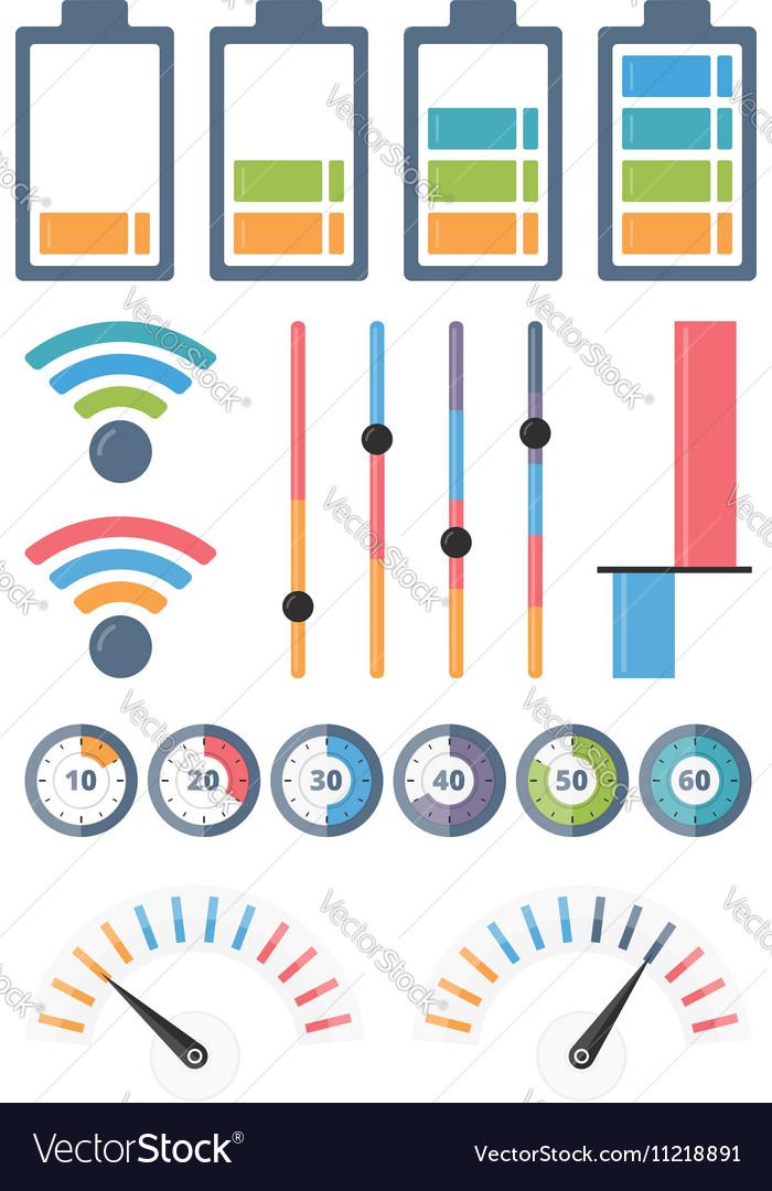 Indicators vector image