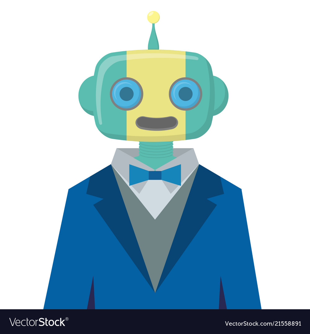 Robot wears suit