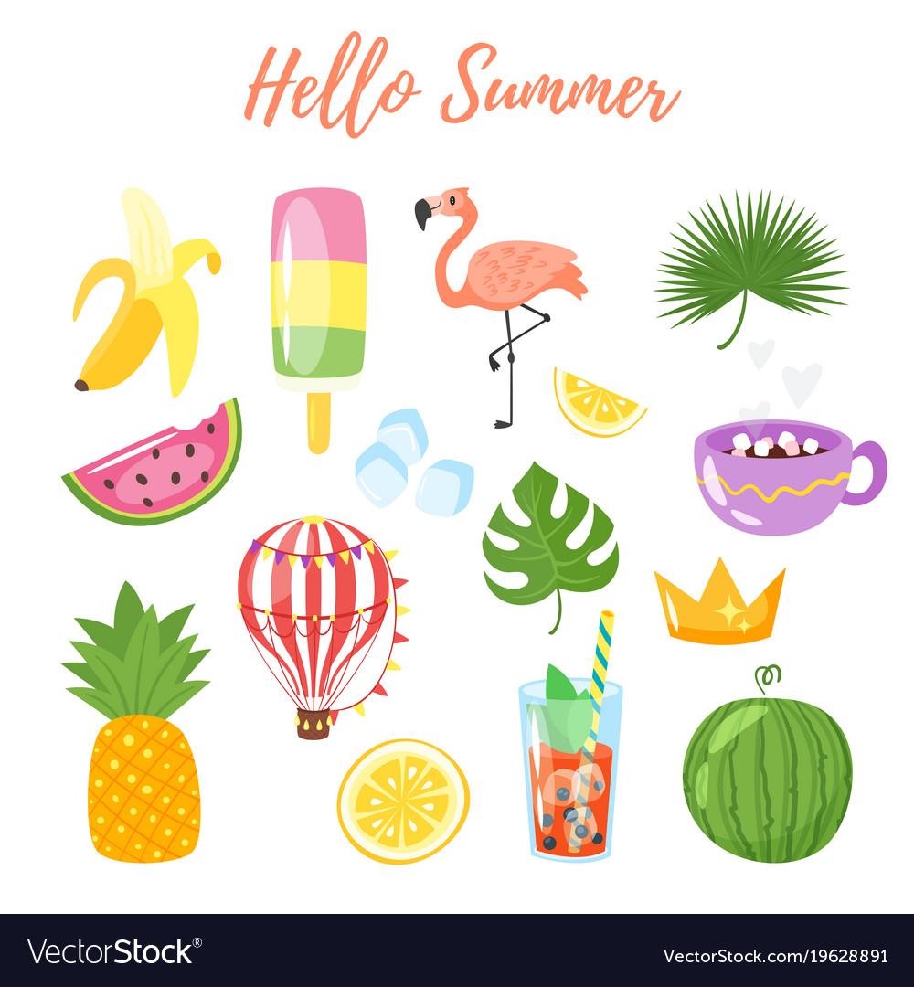 Set of summer symbols