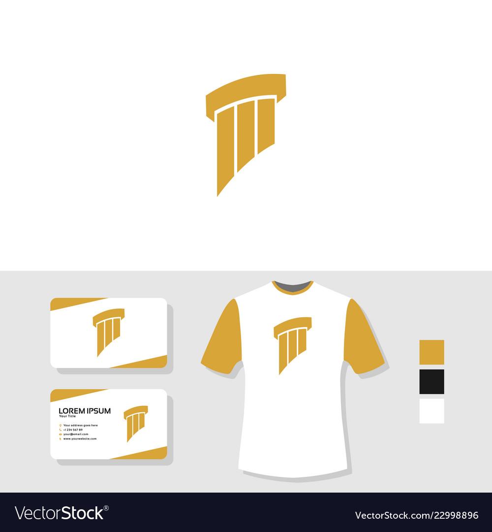 Attorney law pillar logo design with business