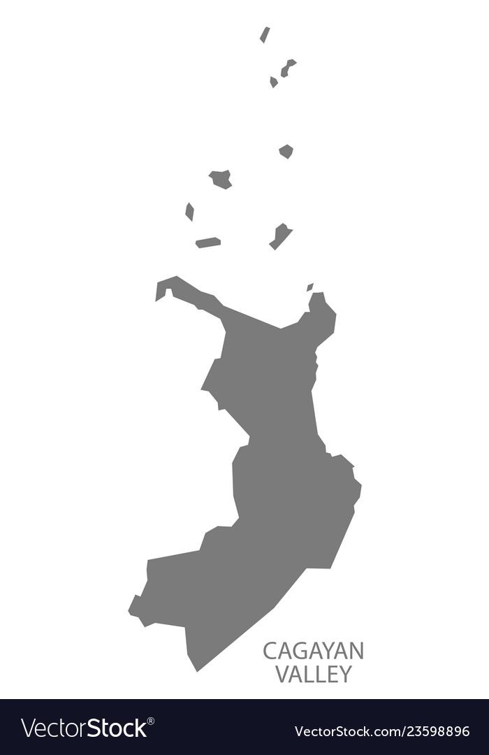 Cagayan Philippines Map.Cagayan Valley Philippines Map Grey Royalty Free Vector