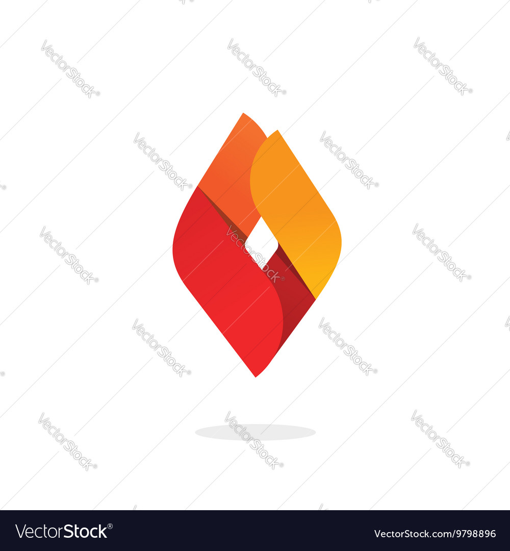 Fire flame logo abstract ignite energy