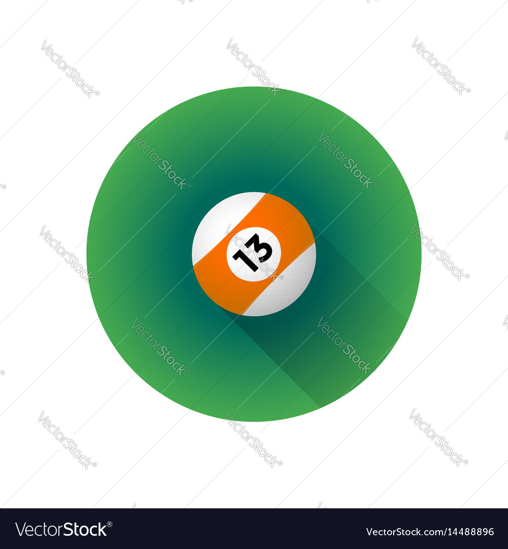 Flat color billiard ball