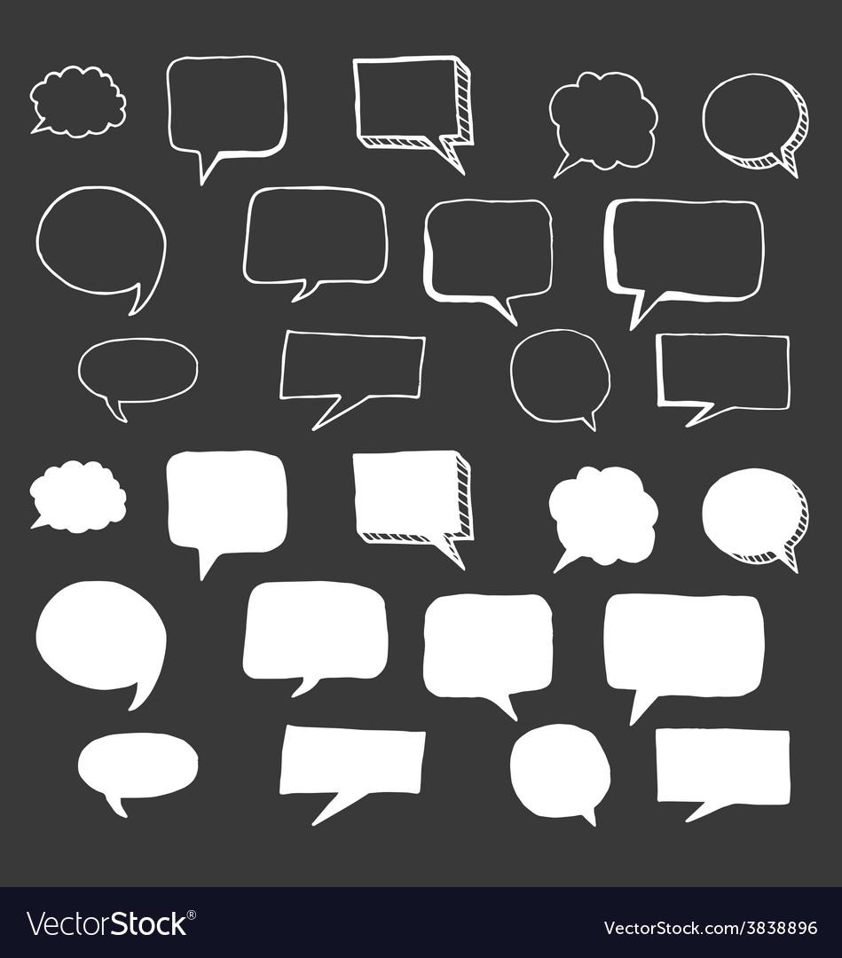Hand Drawn Speech Bubbles Doodle