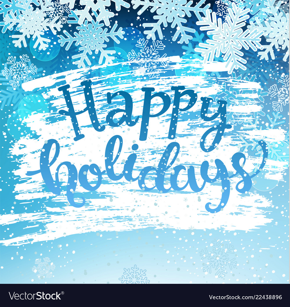 Happy holidays geeting card