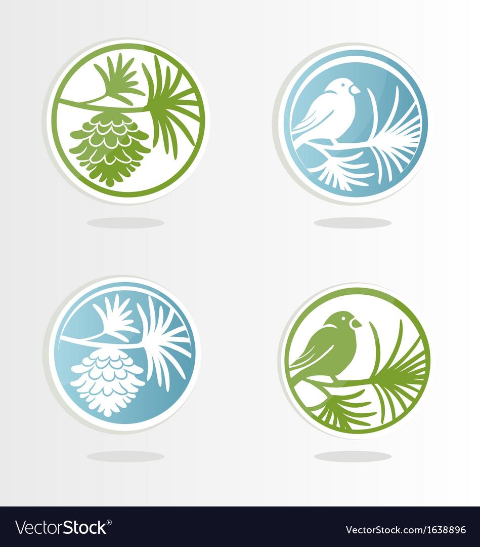 Icons taiga vector image