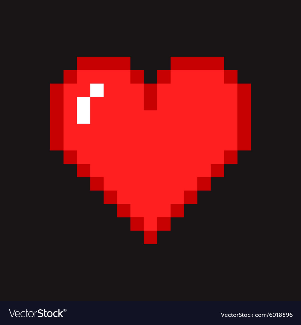Pixel Heart Royalty Free Vector Image