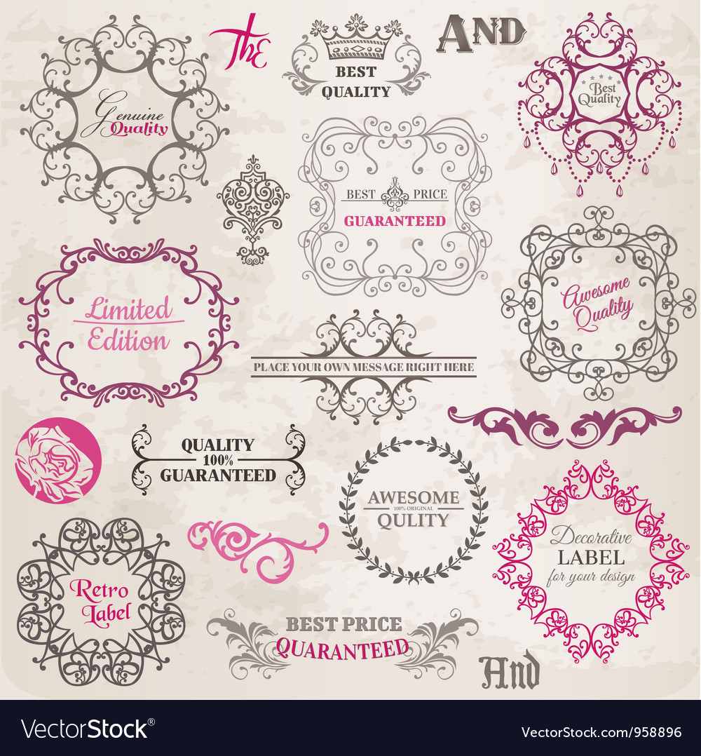 Set Calligraphic Design Elements