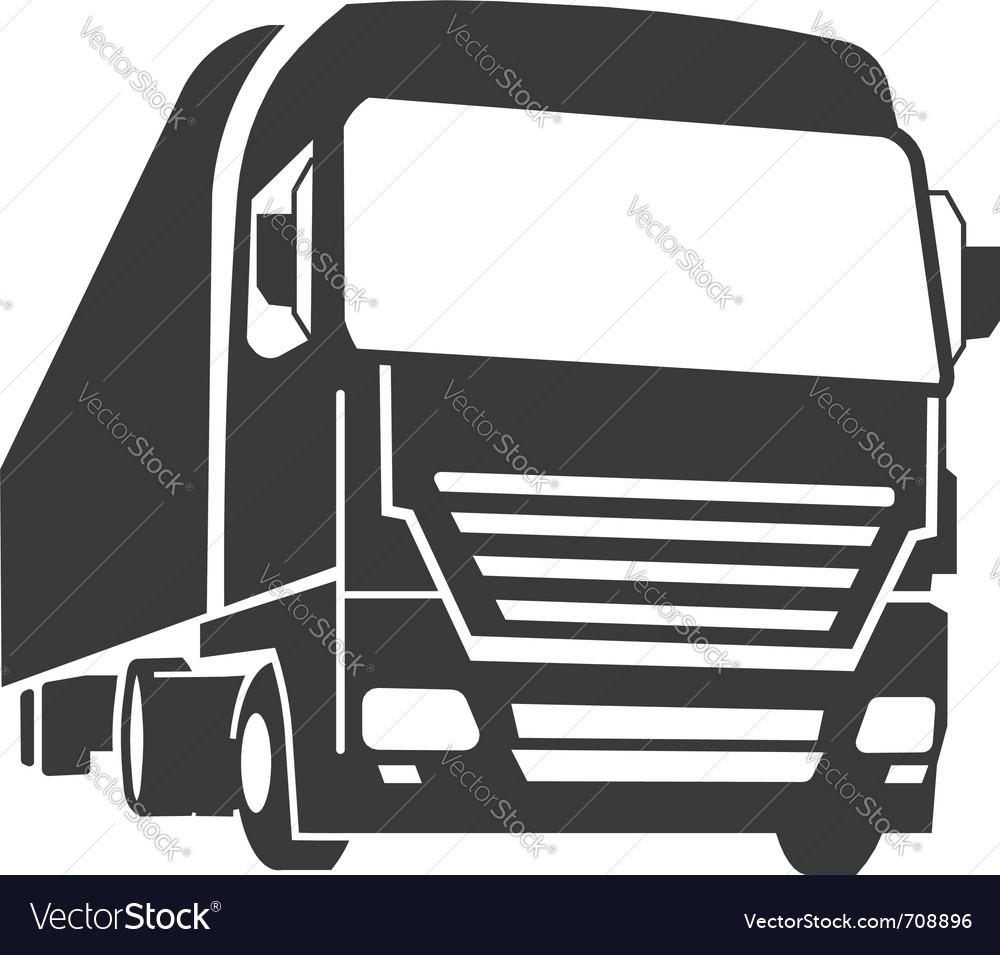 truck royalty free vector image vectorstock rh vectorstock com truck vector art free truck vector png
